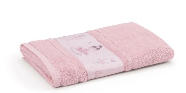 Toalha de Banho Bailarina Rosa Claro Karsten