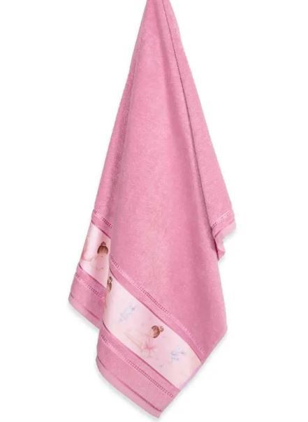 Toalha de Banho Bailarina Rosa Escuro Karsten