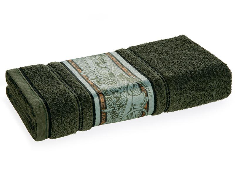 Toalha de Banho Camuflado Verde Musgo Karsten