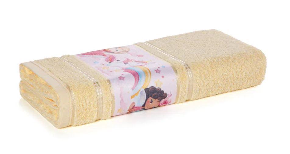Toalha de Banho Encantada Amarela Karsten
