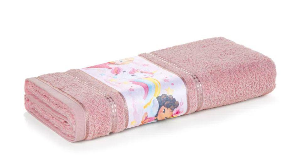 Toalha de Banho Encantada Rosa Karsten