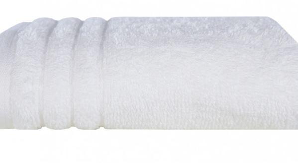 Toalha de Banho Gigante e Rosto Imperiale Branca Trussardi
