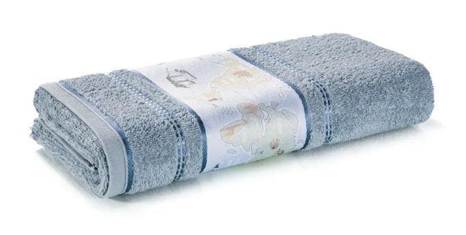 Toalha de Banho Mundi Azul Karsten