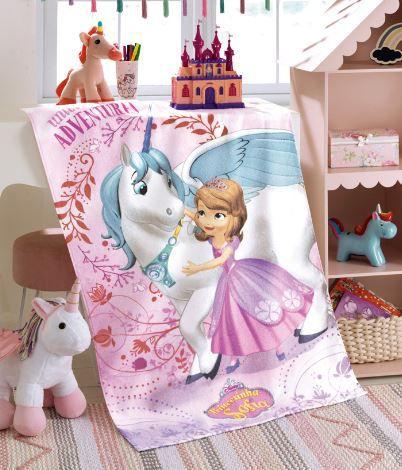 Toalha de Banho Felpuda Princesa Sofia 08 Dohler