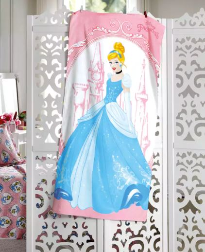 Toalha de Banho Velour Cinderella Dohler