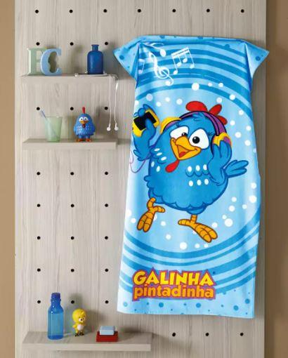 Toalha de Banho Velour Galinha Pintadinha 32 Dohler