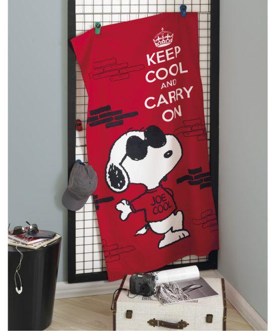 Toalha de Banho Velour Snoopy Dohler