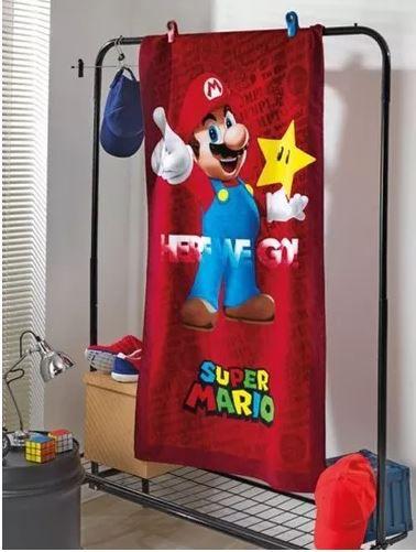 Toalha de Banho Velour Super Mario 03 Dohler