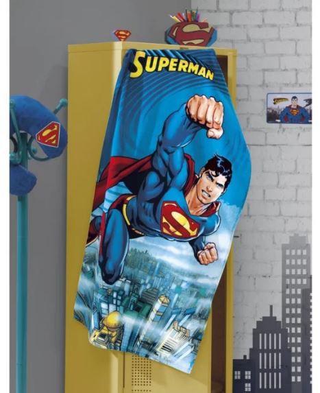 Toalha de Banho Velour Superman Dohler