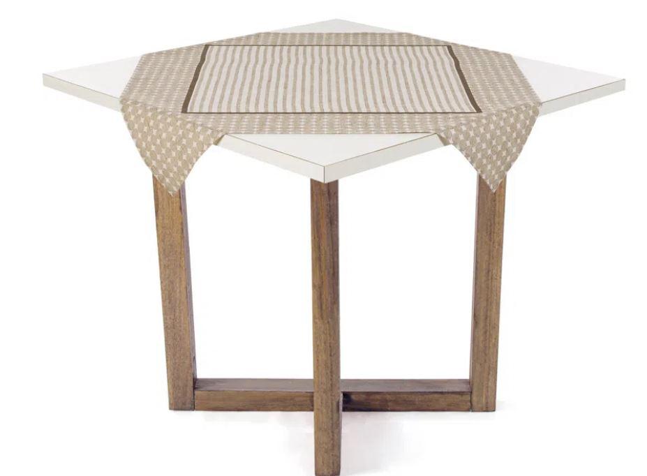 Toalha de Mesa de Chá 78 x 78 Crivos Karsten
