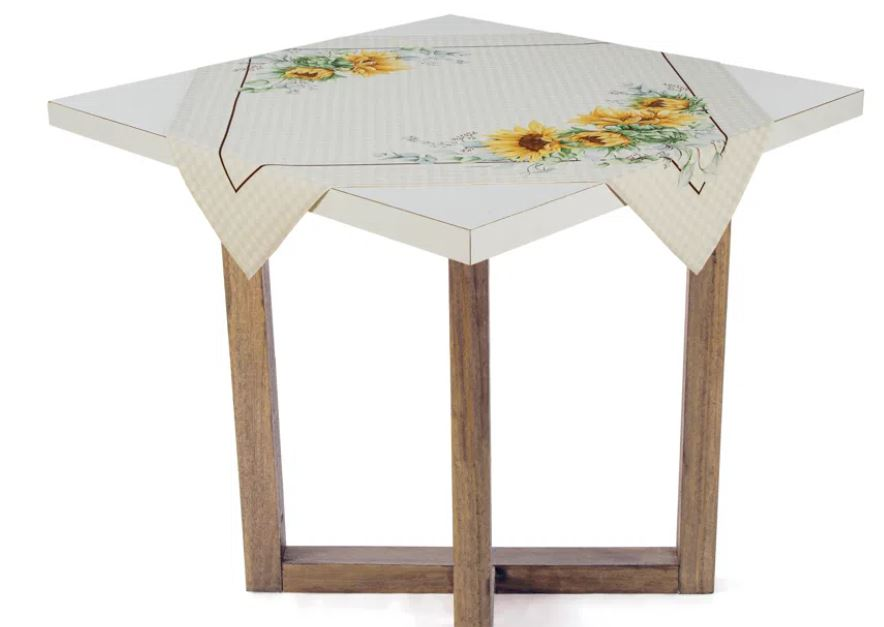 Toalha de Mesa de Chá 78 x 78 Flor do Sol Karsten