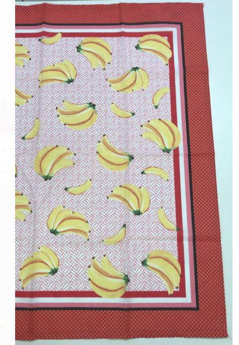 Toalha de Mesa de Chá 78x78 Bananas Karsten
