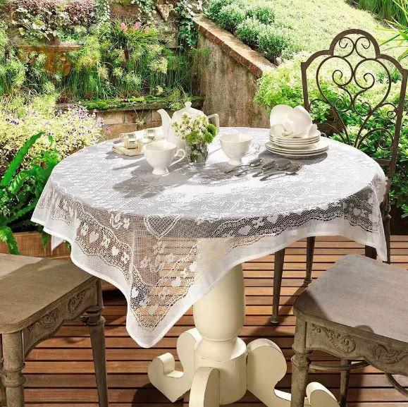 Toalha de Mesa de Croche Topper 1m x 1m Lace Lepper