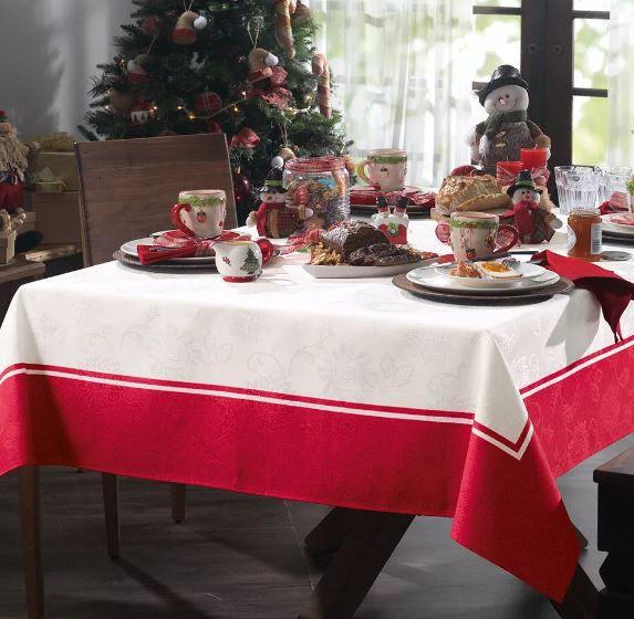 Toalha de Mesa Natal Tempo de Reunir Karsten