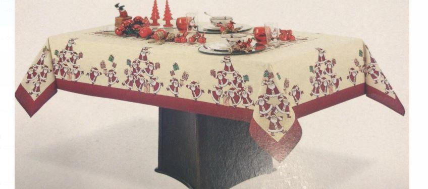 Toalha de Mesa Quadrada 4 lugares Merry Christmas Karsten