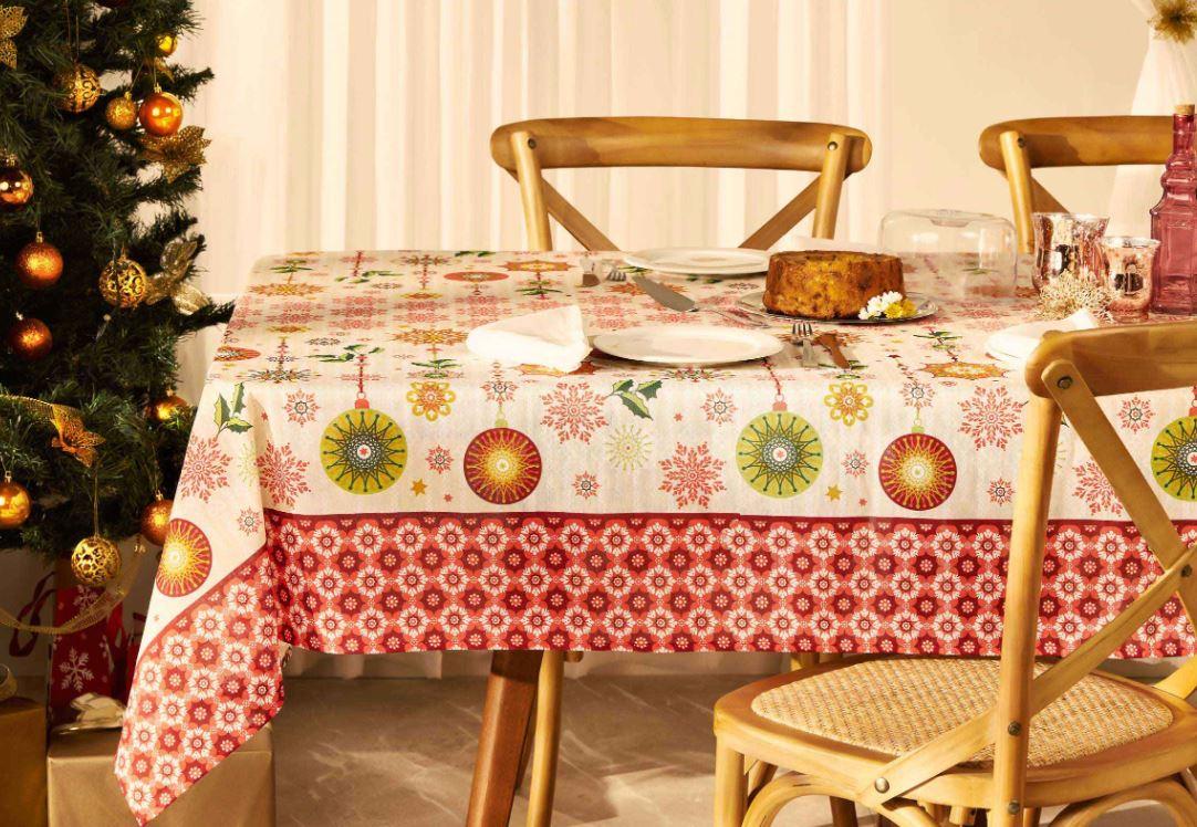 Toalha de Mesa Quadrada 4 Lugares Natal Magia Lepper