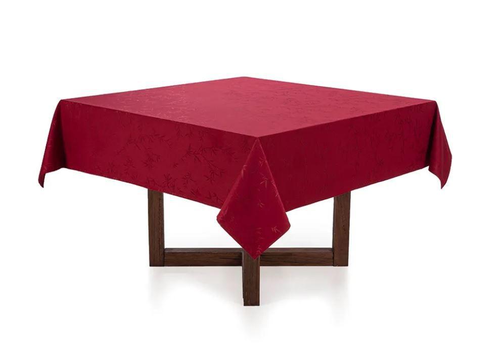 Toalha de Mesa Quadrada 6 Lugares Veríssimo Vermelha Karsten