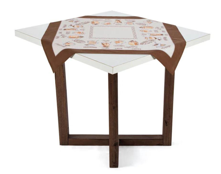 Toalha de Mesa Quadrada 78 x 78 Dia a Dia Cafe Gourmet Karsten