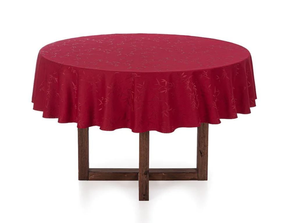 Toalha de Mesa Redonda 6 Lugares Veríssimo Vermelha Karsten