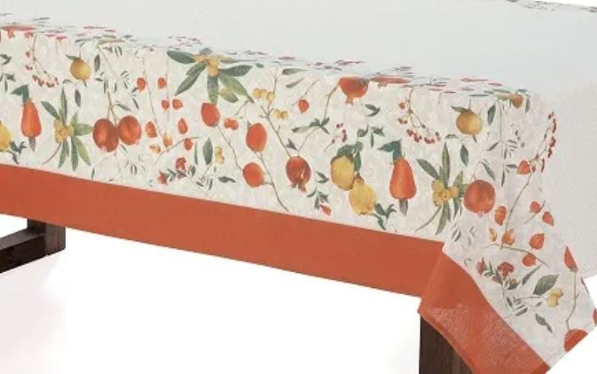 Toalha de Mesa Retangular 6 Lugares Dia a Dia Floralice Karsten