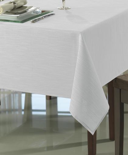Toalha de Mesa Retangular Clean 8 lugares Passion Branca Dohler