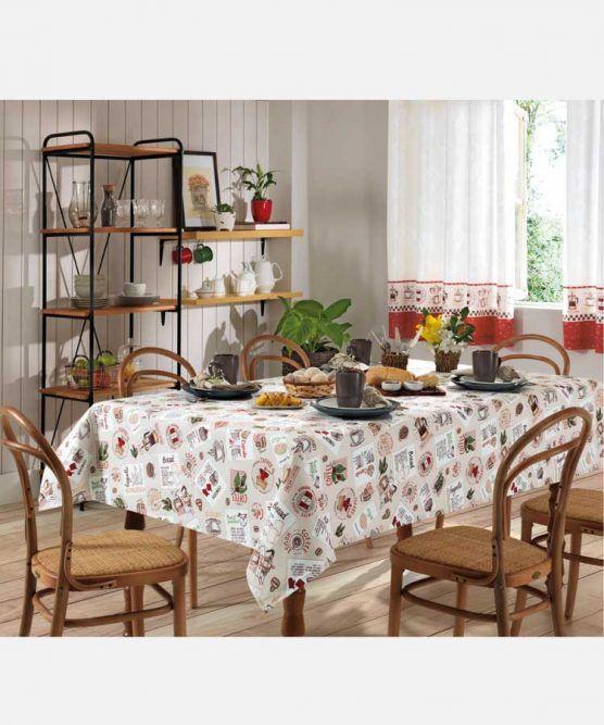 Toalha de Mesa Retangular Clean 8 Lugares Emma Dohler
