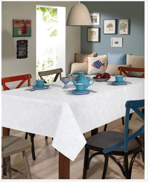 Toalha de Mesa Retangular Clean Edite 8 Lugares Dohler