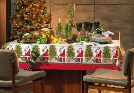 Toalha de Mesa Retangular Natal 8 lugares Karsten
