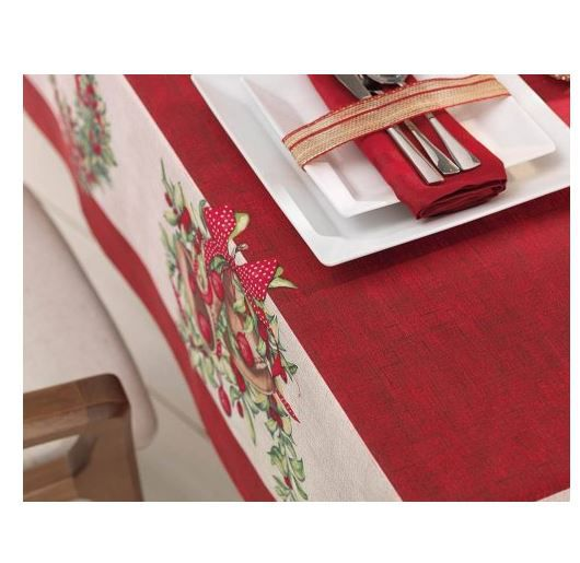 Toalha de Mesa Retangular 8 Lugares Natal Tempo de Refletir Karsten