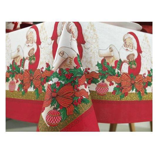 Toalha de Mesa Retangular Natal Tempo de Sonhar Karsten