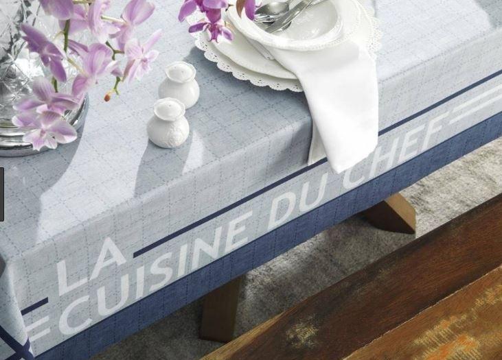 Toalha de Mesa Retangular Sempre Limpa Du Chef Karsten