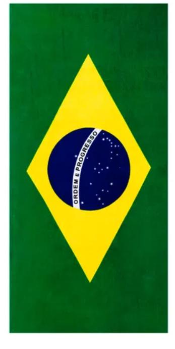 Toalha de Praia Aveludada Brasil Dohler
