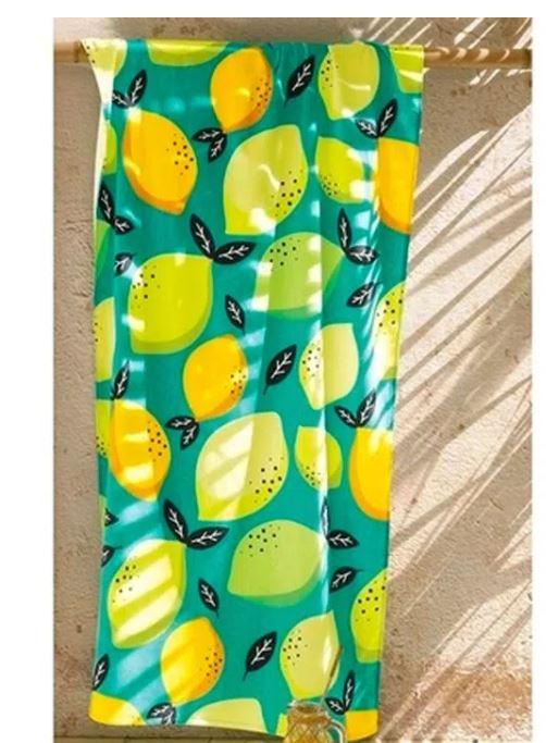 Toalha de Praia Gigante Velour Lemon Dohler