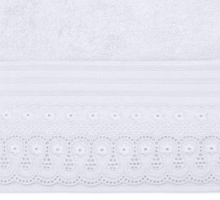 Toalha de Rosto Cristal Renascença Branca Buettner