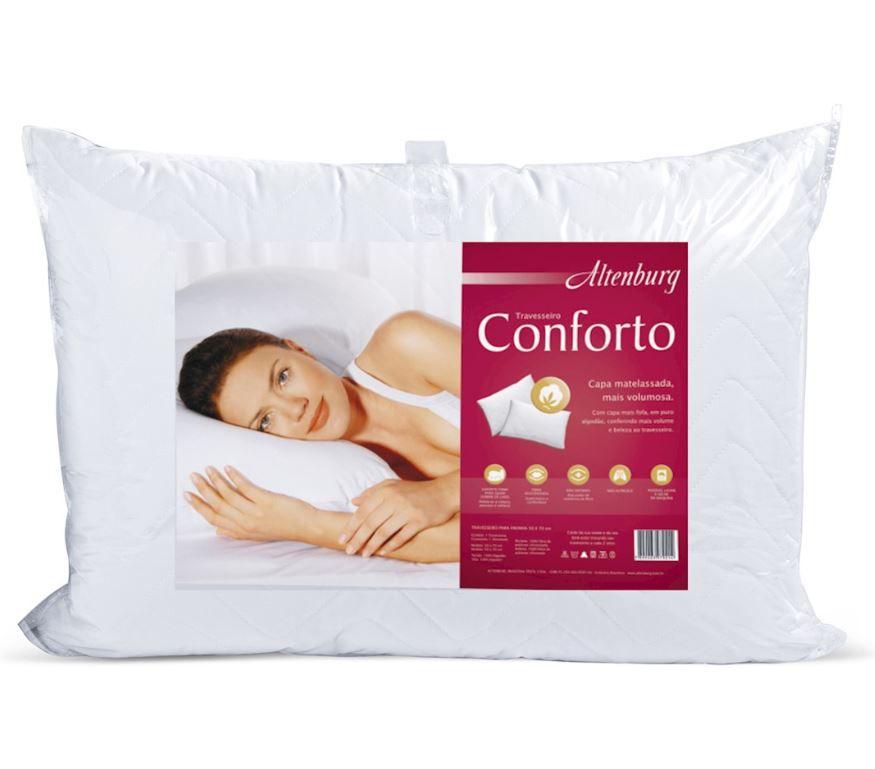 Travesseiro Conforto 50cm x 90cm Altenburg