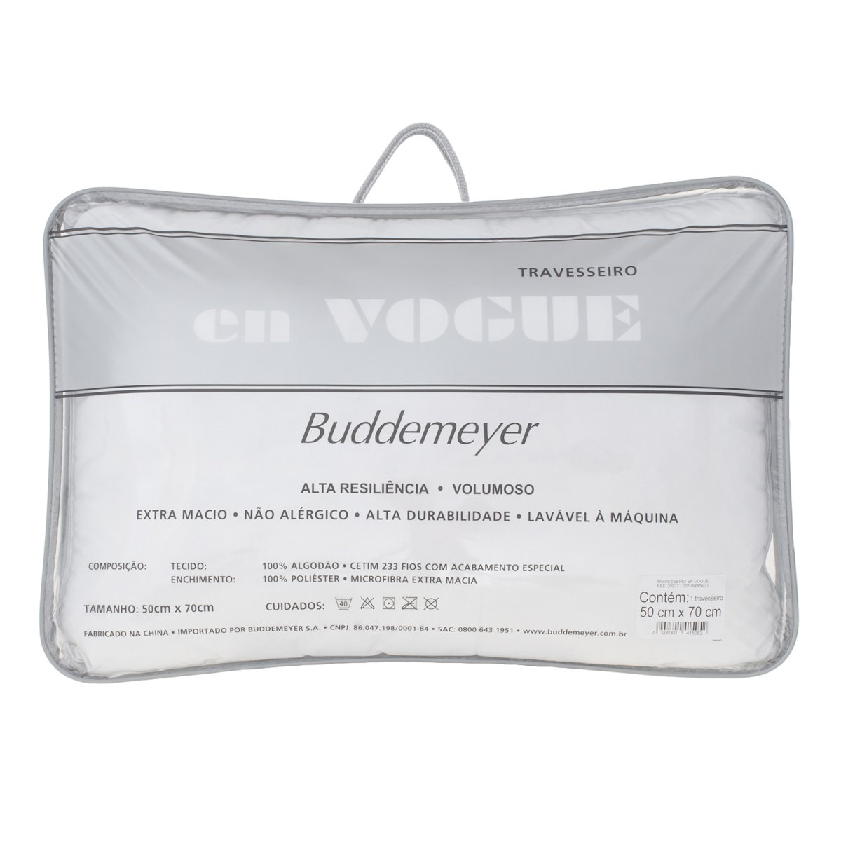 Travesseiro En Vogue Cetim 233 Fios Buddemeyer