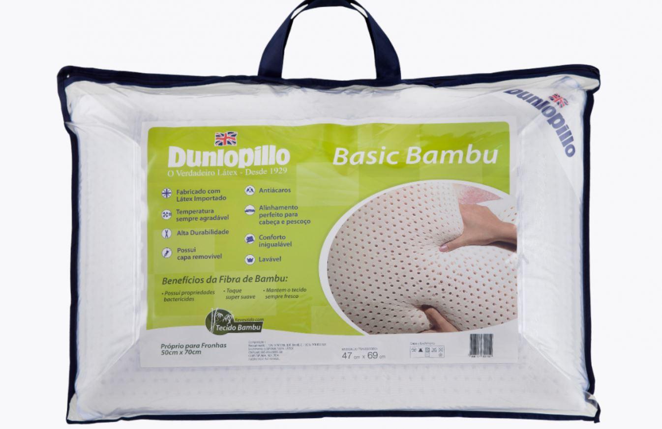 Travesseiro Latex Basic Bambu Dunlopillo
