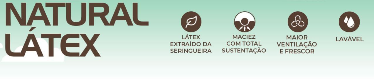 Travesseiro Natural Latex 45x65 Duoflex