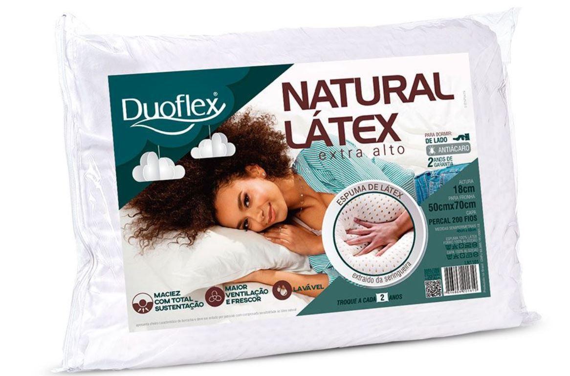 Travesseiro Natural Latex Extra Alto Duoflex
