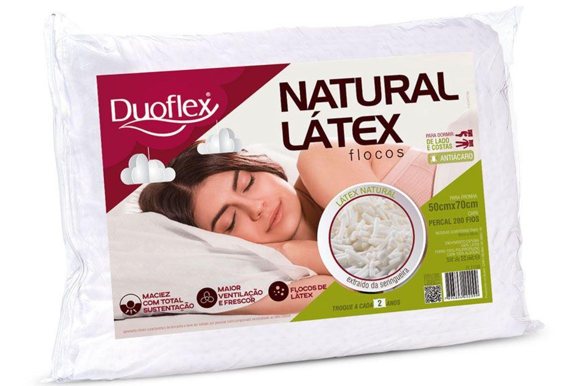 Travesseiro Natural Latex Flocos Duoflex