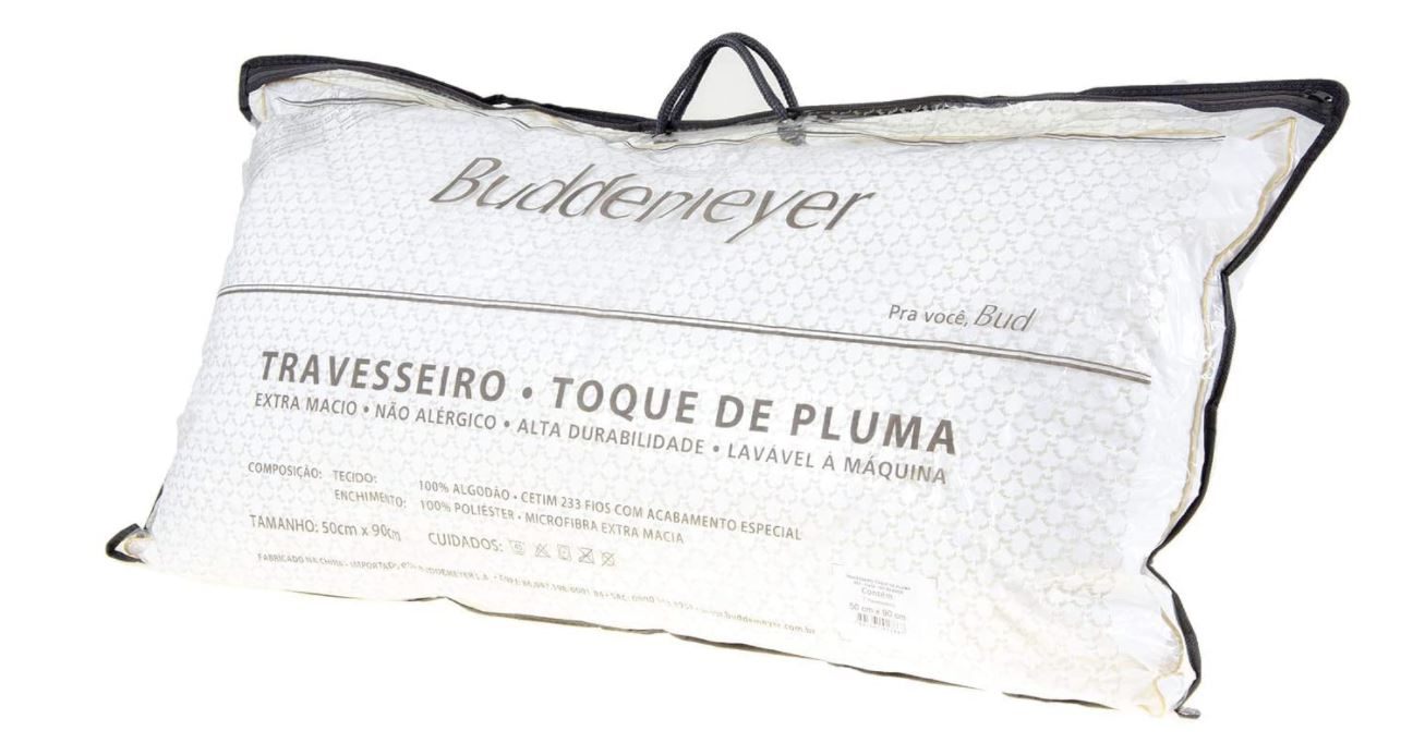 Travesseiro Toque de Pluma 50 x 90 Buddemeyer