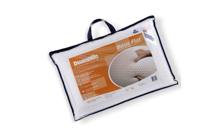 Travesseiros Latex Basic Flat Dunlopillo e Protetor de Travesseiro Altenburg