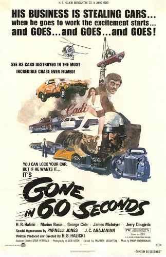 Dvd 60 Segundos 1974 - Gone in 60 seconds Versão Original  - FILMES RAROS EM DVD