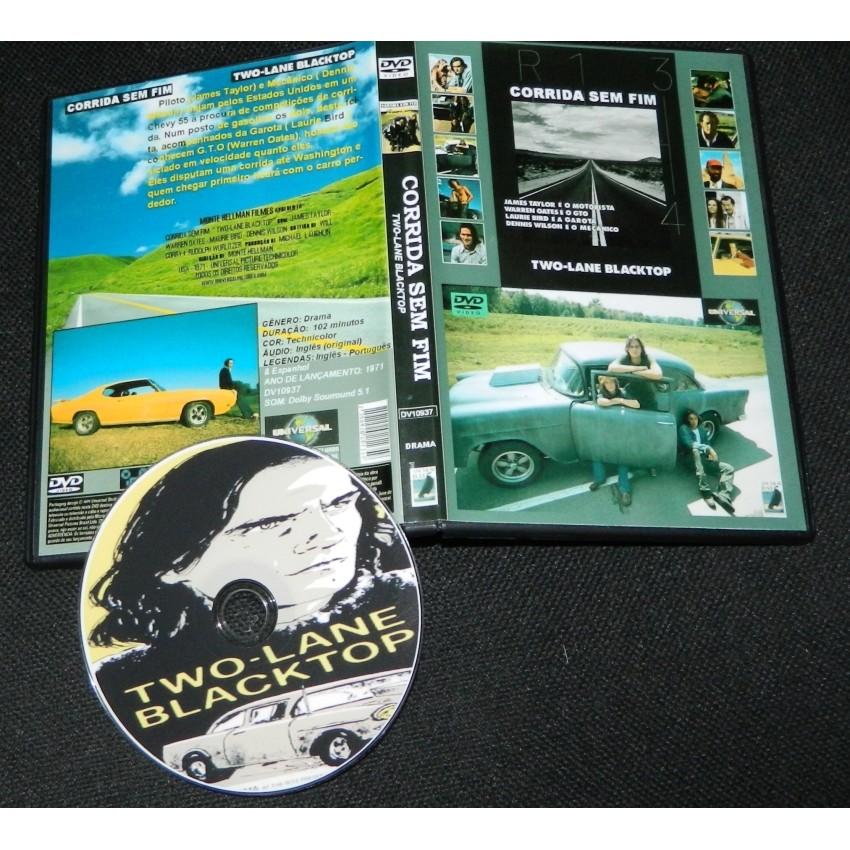 Dvd Corrida Sem Fim - 1971 (Two-lane Blacktop - 1971)  - FILMES RAROS EM DVD