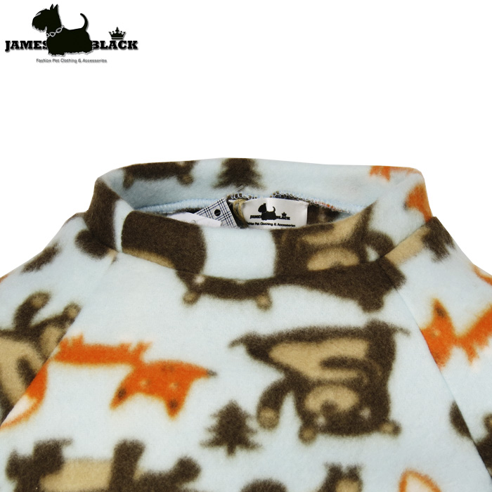 Camiseta Pet Soft Azul Claro Gola Careca Estampa Bear and Fox