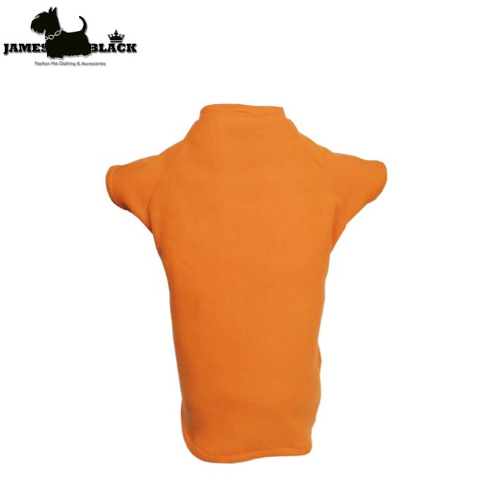 Blusa Pet Soft gola careca laranja