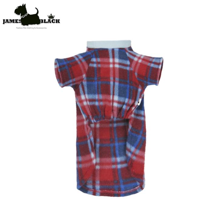 Camiseta soft xadrez Old England vermelho e azul gola careca azul claro P