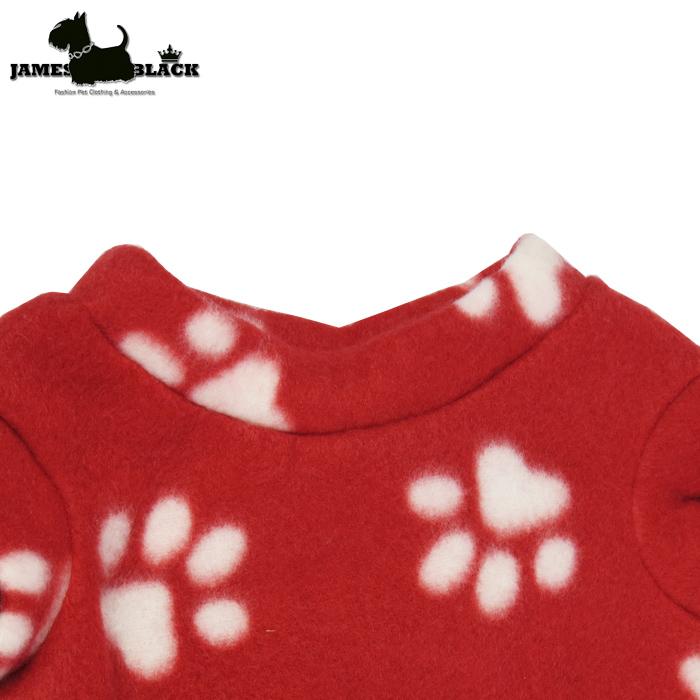 Camiseta Soft Gola Careca Vermelha Estampada de Patinhas s/ Mangas