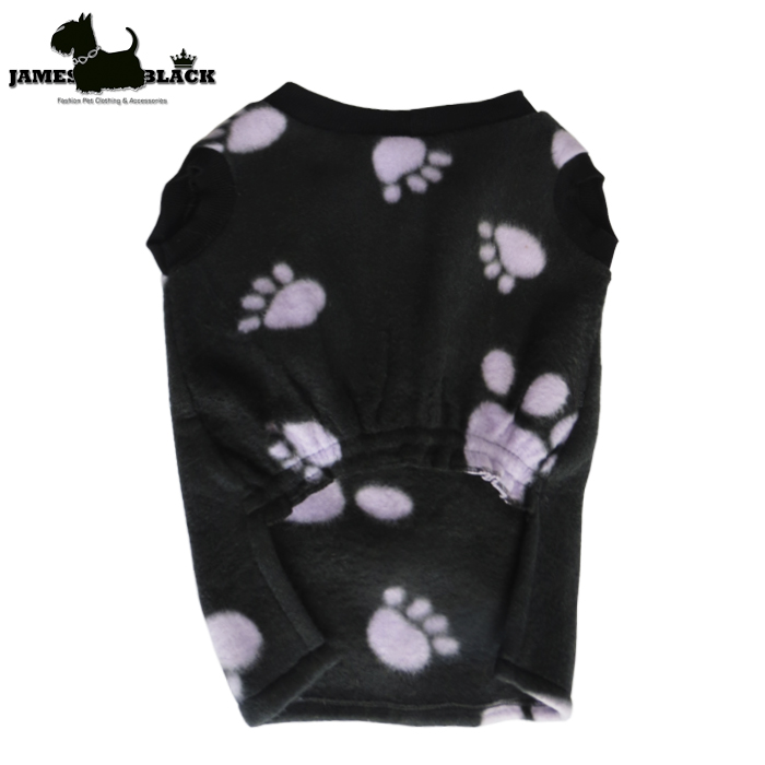 Camiseta Pet Soft Gola Careca Estampa de Patinhas s/ Manga