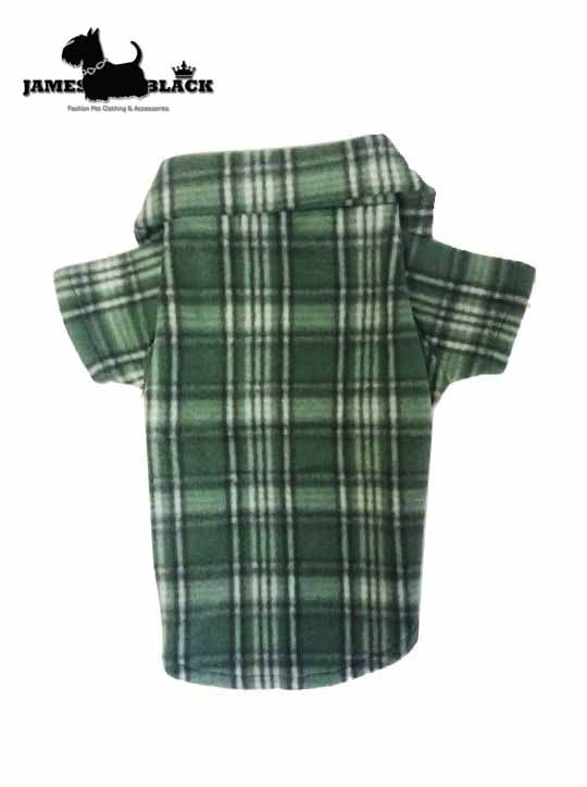Camisa Pet Soft Xadrez Verde